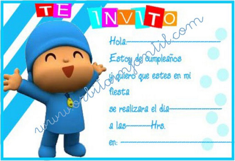 Orbita Infantil Invitaciones De Cumpreanos